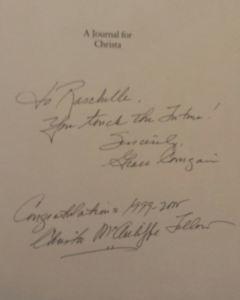 Christa Autograph