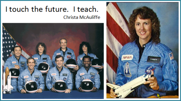 essay on christa mcauliffe Gregg wright (bs '69) wrote in the winter 2015 issue of e&s magazine about how christa mcauliffe's death on the space shuttle challenger inspired him.
